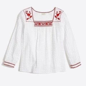 2/$39: J. Crew Embroidered Peasant Blouse